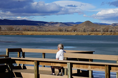 Contemplation (Let Ideas Compete) Tags: pensive contemplate contemplation cogitation cogitate cootlake sky pier sitting haystackmountain