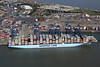 Maersk Line blue ship in the Port of Felixstowe aerial (John D Fielding) Tags: maersk ship felixstowe docks port containership above aerial nikon d810 maerskline hirez hires highresolution hidef highdefinition aerialphotography aerialimage aerialphotograph aerialimagesuk aerialview viewfromplane britainfromabove britainfromtheair