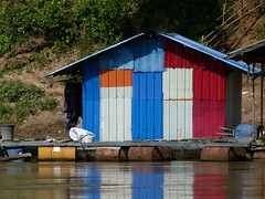 Stripes (Toats Master) Tags: laos mekongriver river boat water colors waterfront