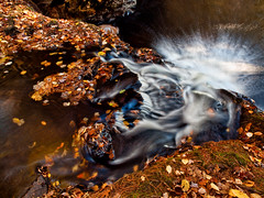 Spectral purge (Wicked Dark Photography) Tags: landscape nh autumn brook fall forest nature stream water waterfall woods