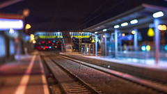 Night @ the miniature station... (.: mike | MKvip Beauty :.) Tags: sonyalpha sony alpha emount ibis кмзюпитер8 кмз юпитер8 kmzjupiter8silver kmz jupiter8 m39 silver 1962 vintagelens vintageprime primelens prime manuallens manualfocusing manual tilt tiltadapter diy handheld availablelight naturallight backlight backlighting night nightlights street shallowdof bokeh bokehlicious beyondbokeh extremebokeh smoothbokeh winter trainstation wörthamrhein germany europe mth mkvip