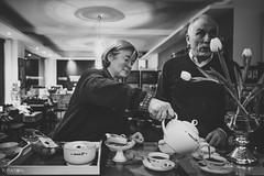 Eine Teetied im Thiele Tee Kontor