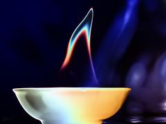 Flame (kunstschieter) Tags: macromondays flame solarization spirit spiritus solarisatie macro makro vlam