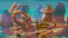 Zwiegespraech 01w abstrakt skulptural (wos---art) Tags: bildschichten zwiegespräche dialog kommunikation auseinandersetzung beziehung gespräch unterhaltung gott god begegnung meeting