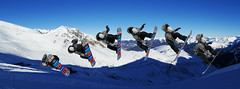 Snowboard jump over the mountains (Le.Patou) Tags: pyrénées neige montagne mountain snow hiver winter ski skiing piste slope pente trail surf snowboard board snowpark saut jump freestyler freestyle rider ride figure trick grab mute 360 flip saintlary saintlarysoulan