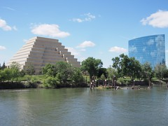 The Ziggurat (left) and CalSTRS Building (right) (procrast8) Tags: sacramento california ca river ziggurat calstrs building
