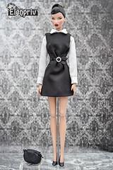 "ELENPRIV ""Little black dress"" collection for 12 inch Fashion dolls (elenpriv) Tags: kyori sato red blooded woman 12inch fashionroyalty doll jason wu integrity toys fr2 elenpriv elena peredreeva handmade clothes little black dress obi belt"
