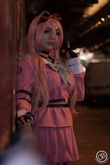 IMG_3568 (**DBPhotography**) Tags: miu iruma danganronpa owldolly owl dolly cosplay costume graffiti tunnel london daniel bennett goggles steampunk pink hair wig dress video game anime