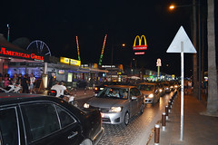 Ayia Napa, Nissi ave - little Pattaya. (Sergey Tchernykov) Tags: 2016 june кипр яйя напа ночь street food mcdonalds jam resort south southern side lane night somethere light people cars traffic evening warm public rest