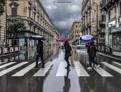 It's a rainy Day (alessandrochiolo) Tags: sicilia siciliabedda street streetphoto sicily sky streetphotografy colori clouds cielo cloud city streetphotography rain pioggia raining rainy ombre riflessi riflessidiluce