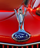 V8 (arbyreed) Tags: arbyreed red mascot carmascot fordv8 car vintage brightred chrome v8 hoodornament fordv8hoodornament
