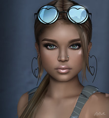 say hello and cheers! (babibellic) Tags: secondlife sl sexyprincess enchanté overlowposes aviglam avatar virtual blogger beauty babigiobellic portrait people