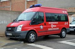 Suhiltzaileak Bilbao (bleulights) Tags: suhiltzaileak bilbao j8 bomberos de bombers firefighters rescue feuerwehr vigili del fuoco pompiers straz pozarna ford transit