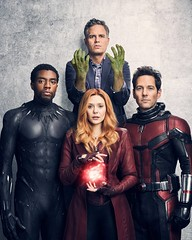 Black Panther, Hulk, Antman, and Scarlet Witch (Guardian Screen Images) Tags: the avengers movie suit spandex super hero superhero superheros superheroes marvel comic comics book books film heroes lycra tight tights leather costume uniform infinity war 2018 elizabeth olsen wanda maximoff scarlet witch paul rudd scott lang antman chadwick boseman tchalla black panther mark ruffalo bruce banner hulk