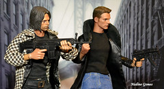 Steve and James (Nadine Gomes) Tags: captain america civil war action figure 16 doll steve rogers chris evans toys winter soldier james bucky barnes sebastian stan