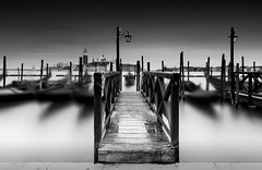The Plank (TS446Photo) Tags: venice noiretblanc blackandwhite board canal longexposure nd boat gondola church nikon zeiss moon light