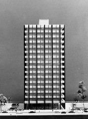 Model of 1st government precinct building (Queensland State Archives) Tags: architecture model queensland archives qld history records 3d threedimensional government precinct building skyscraper tree people car