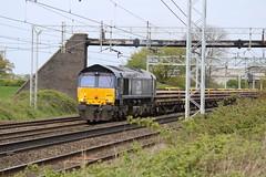 DRS 66433 @ Chorlton Lane Nr Crewe (uksean13) Tags: 66433 drs crewe cheshire chorltonlane diesel train railway rail canon 760d ef28135mmf3556isusm