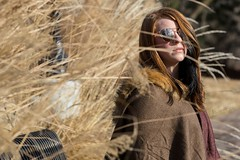 Amber (austinspace) Tags: woman portrait spokane washington model downtown kendallyards winter summery sunshine sunny river redhead