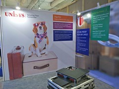 last minute preparations underway Unisys, Air Cargo India 2018 (aircargoindia) Tags: aircargo aviation logistics freight supplychain shipping