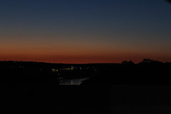 the river (annawithsirens) Tags: river sunset sol por do art dark intense en pôrdosol entardecer céu sky cidade ponte bridge argentina fronteira puerto iguassu
