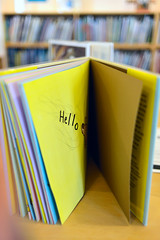 Friendly (Chancy Rendezvous) Tags: friendly book library open pages childrens ericcarle museum hello yellow