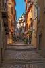 Uphill Climb To Church of St Euphemia (fotofrysk) Tags: street lane uphill pavement pavers cobblestones shops homes buildings architecture easterneuropetrip croatia rovinj istria dalmatiancoast sigma1750mmf28exdcoxhsm nikond7100 201710047935