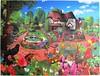 Cats in a Cottage Garden (Gerald Newton) (Leonisha) Tags: puzzle jigsawpuzzle cats katzen cottage garden garten flowers blumen