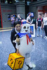 wednesday and stay puft (timp37) Tags: ghostbusters cosplayers cosplay nat nathalie addams family wednesday illinois chicago wizard world comic con august 2017 rosemont