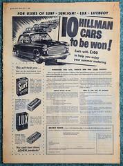 Hillman Minx Prize Draw 1955 (davids pix) Tags: daily sketch newspaper hillman minx car advertisement advert unilever surf lux prize draw 1955