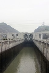 Crossing over a lock Chamber (oxfordblues84) Tags: peoplesrepublicofchina china oat overseasadventuretravel threegorgesdam victoriacruises victoriajennacruise threegorgesdamlocks shiplocks shiplock water yangtzerivercruise yangtzeriver sandouping