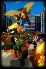 Eggsactly! You better duck! (harrycobra) Tags: turtles teenagemutantninja hero actionfigures toys vintage diorama