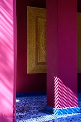 Moroccan Shadows (Stuart Tarn) Tags: travelphotography shadow pink lattice gold travel sunlight riad red morroco medina marrakech colour africa marrakesh marrakeshsafi morocco ma