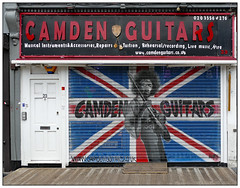 Play like Jimi (donbyatt) Tags: camden streetart urbanwalls graffiti shutters shop guitars jimihendrix