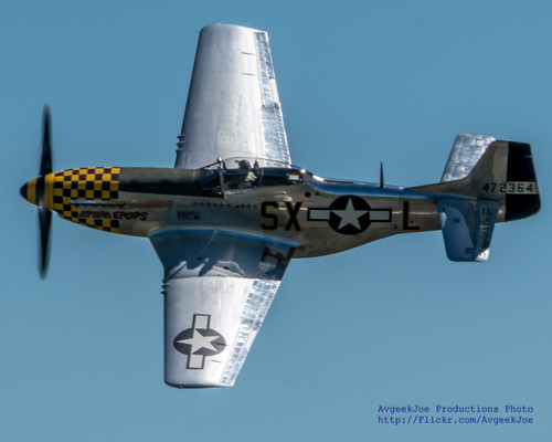 "P-51D ""Upapa Epops"" Against the Blue of Paine Field Aviation Day"