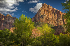 The Watchman (donnieking1811) Tags: utah springdale zionnationalpark zion thewatchman mountain mountains outdoors trees sky clouds blue green nationalpark hdr canon 60d lightroom photomatixpro