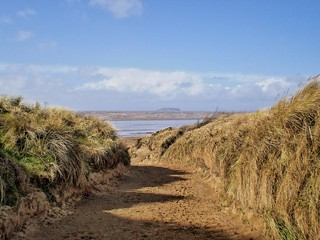 Brean Sands looking to Steep Holme Island