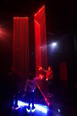 laser harp (rovingmagpie) Tags: newmexico santafe meowwolf houseofeternalreturn immersiveart art bday2018 laserharp kani harp red