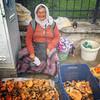 Woman on the Tuesday market selling mushrooms (VillaRhapsody) Tags: woman female lady market mushrooms saleswoman forsale