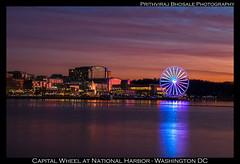 Capital Wheel (Prith_B) Tags: canon7dmarkii tamron1750mmf28 capitolwheel nationalharbor virginia washingtondc longexposure nightscape cityscape