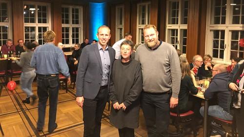 Party für die Oldenburger Wahlhelferinnen und Wahlhelfer in Donnerschwee mit Hanna Naber MdL und Ulf Prange MdL.
