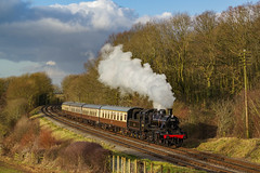78018 At Kinchley Lane. 26/01/2018 (briandean2) Tags: 78018 kinchleylane leicestershire greatcentralrailway steam railways uksteam ukrailways