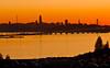 photo - SF Bay Sunset 2 (Jassy-50) Tags: photo sanfrancisco emeryville california sanfranciscobay sfbay bay sunset skyline sanfranciscooaklandbaybridge baybridge panorama hyatthousehotel hyatthouse hotel viewfromhotelroom orange sutrotower bankofamericabuilding transamericapyramid salesforcetower freeway i80 hwy80 interstate80