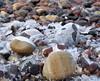 ice stone (haesy) Tags: olympuspen ostsee rostock nature warnemünde winter wintertime balticsea beach ice stone