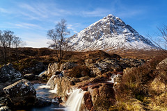 Buachaille Etive Mòr (Borderli) Tags: buachailleetivemòr glencoe buachaille rivercoupall scotland winter landscape waterfall longexposure glenetive water snow ngc