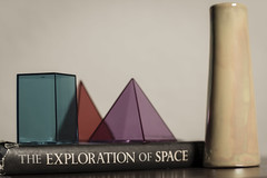 The Exploration of Space (N.the.Kudzu) Tags: home tabletop stilllife geometricsolids book pottery vase canon70d zenitar50mmf12 lightroom