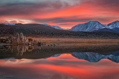 Mono Lake (buiTchuong) Tags: sunset clouds mountain lake eastern sierra californialandscape reflection nature
