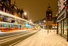 Braving the Beast from the East (George Plakides) Tags: beastfromtheeast snow crouchend clocktower lighttrails bus
