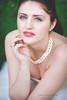 Mélanie (YelennaPhotographie) Tags: portrait face couleurs color bijoux lèvres lips regard bleu robe femme girl
