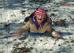 I'll Zoom Down Your Lens, Granddad!! (bigbadbill4931) Tags: elements granddaughter snow sled
